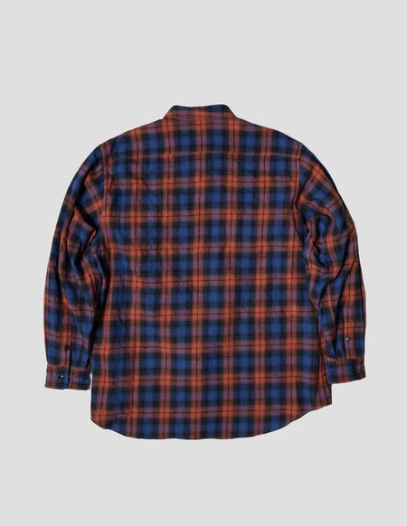 Kapatid NYC Wide Shirt - Purple/Orange Plaid