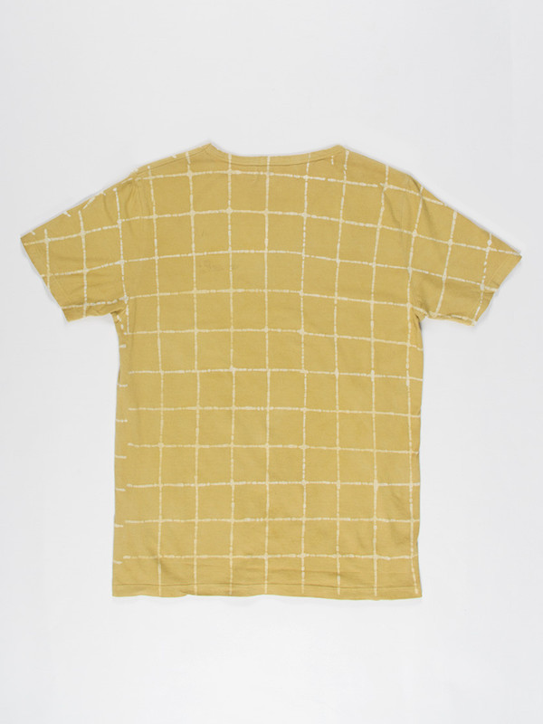 Men's Industry of All Nations Batik Checks Tee Yellow