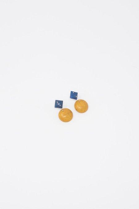 Jessica Winzelberg Mobile Earring - Lapis/Yellow Jasper