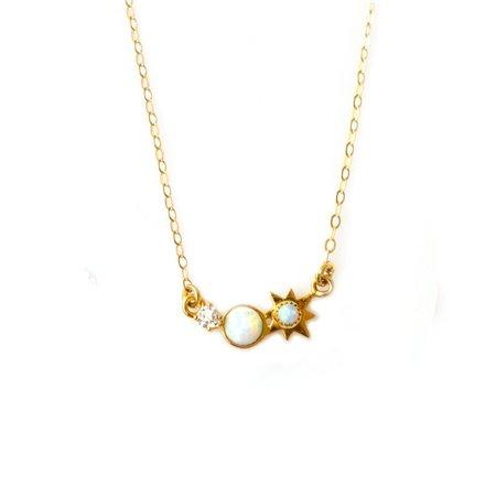 "La Kaiser ""Three Wishes"" Opal and Diamond Pendant"