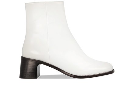 BY FAR Jeanne Leather Boot - Optic White