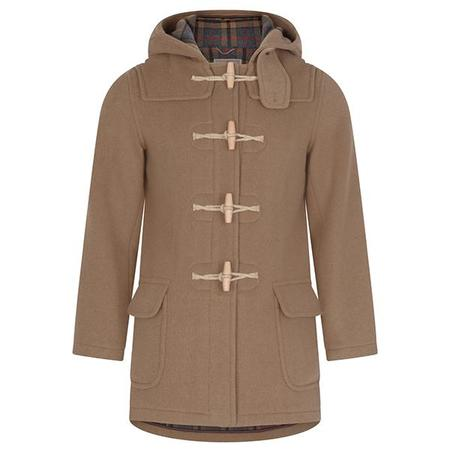 Burrows and Hare Water Repellent Wool Duffle Coat - BROWN