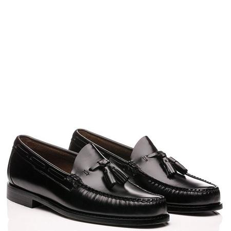 G.H Bass Weejuns Handmade Larkin Pull Up Tassle Penny Loafers - BLACK