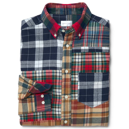 Gant Rugger Upcycled Button Down Longsleeve Shirt - Patchwork