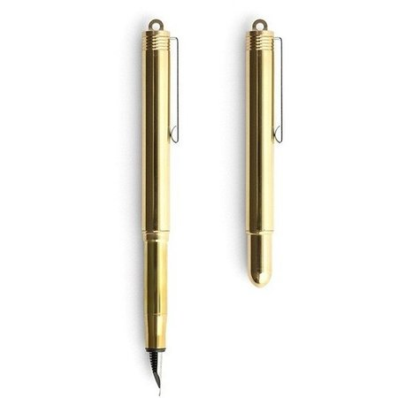 Traveller's Company Portable Sized Solid Japanese Brass Fountain Pen