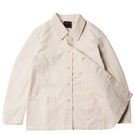 Vetra Cotton Twill Workwear Jacket - Ecru