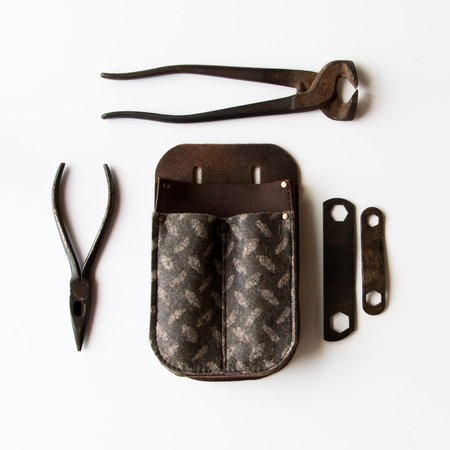Out Leather & Felt Tool Holder/Pouch