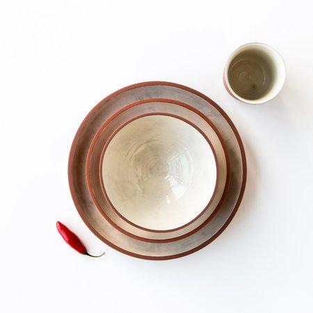 Léa & Nicolas Stoneware 4-Piece Dinnerware Set - Terracotta/White