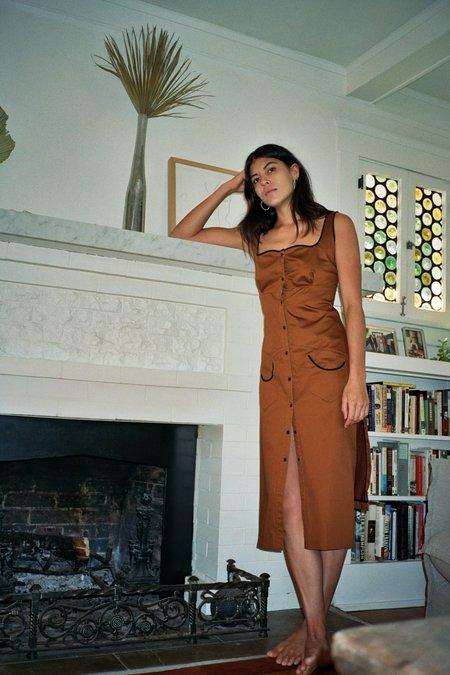 Kahle Western Dress - Rust