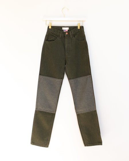 Carleen Two Tone Jeans - Sage
