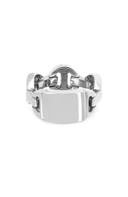 Hoorsenbuhs Brute Classic Tri Link Ring - Sterling Silver