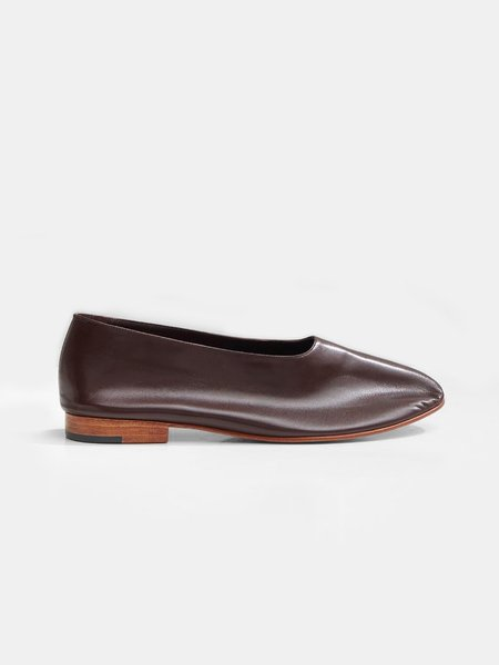 Martiniano Shoes glove shoe - dark umber