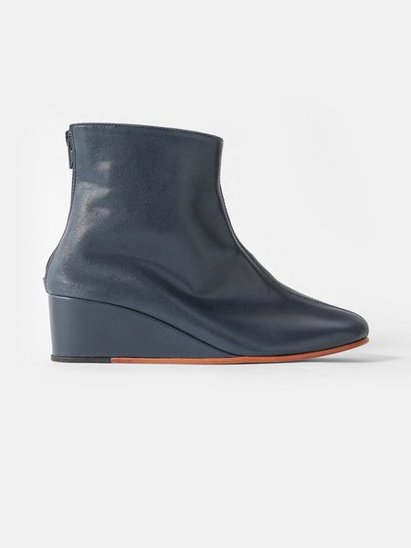 Martiniano Shoes leone wedge boot - navy