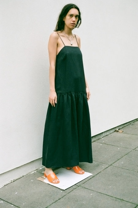 Mara Hoffman Renata Dress - Charcoal Black