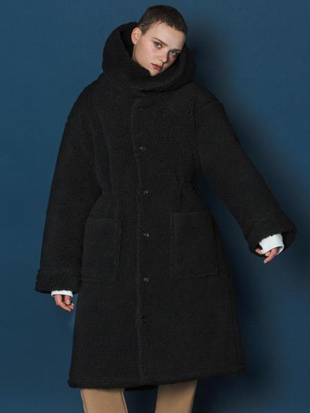 Unisex Slowacid Boa Fleece Long Parka - Black