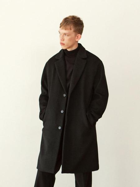 HALBKREIS Loose Fit Wool Single Coat