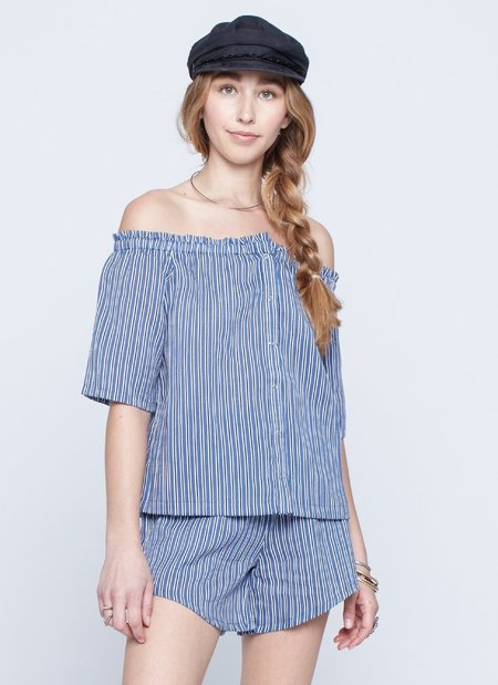Knot Sisters Sumner Top - Blue Stripe