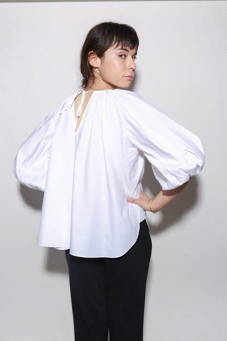 ARCH THE Balloon Sleeve Blouse - White