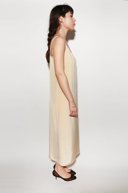 ARCH THE Silk Slip Dress - Tan