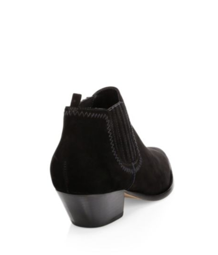 Schutz Jaqueline Suede Point-Toe Bootie - black