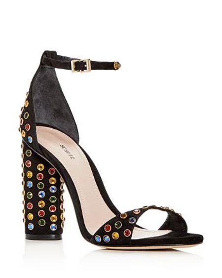 Schutz Marcelle Block Heel Sandal - black