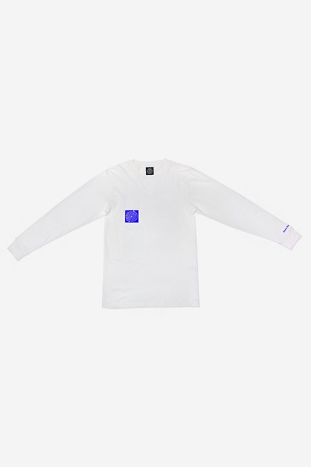 Silent Sound Long Sleeve Remember T-Shirt - white