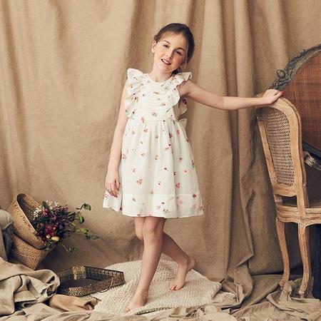 Kids Nellystella Mae Dress - Spring Floral/White