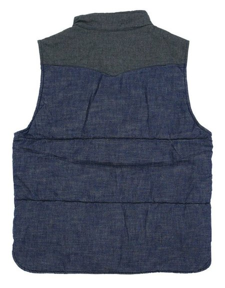 Momotaro Jeans Chambray Vest - Indigo