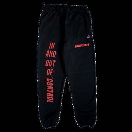 PLEASURES Control Sweatpants - Black
