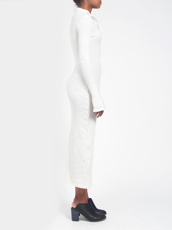 Assembly Rib Maxidress White