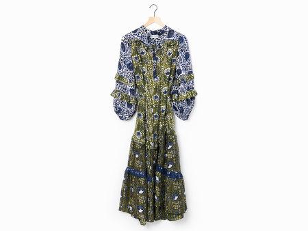 Apiece Apart Gracia Flamenca Dress - Blue/Green