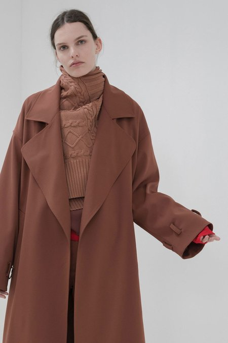 Nomia Oversize Trench - BROWN
