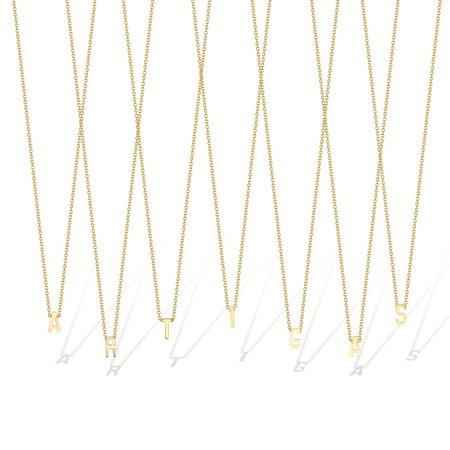 Gabriela Artigas L Single Initial Necklace - 14K Gold