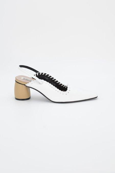 Reike Nen Curved Middle Slingback - White/Beige