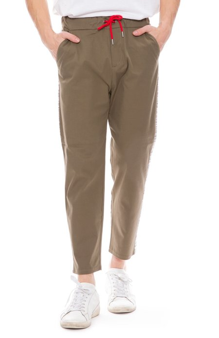78 Stitches Carrot Pants - Army Green