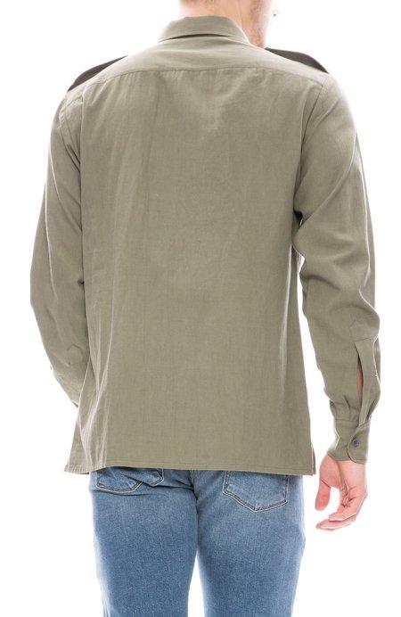 Dries Van Noten Embroidered Military Shirt - Khaki
