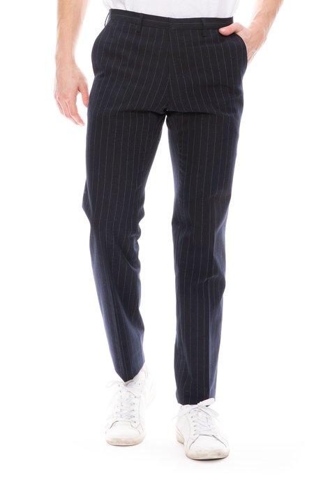 Dries Van Noten Slim Suit Pant - Striped
