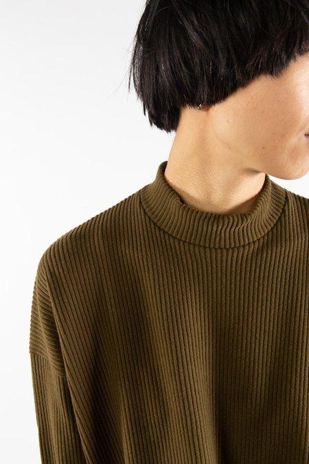 Side Party Attitude Sweater - Khaki