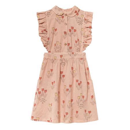 KIDS Bobo Choses Child Ruffle Dress With Poppy Prairie Print - Orange
