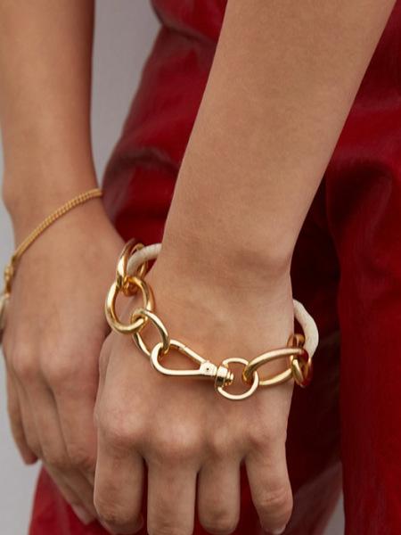 MONDAY EDITION Bold Oval Ceramic Bracelet - Gold