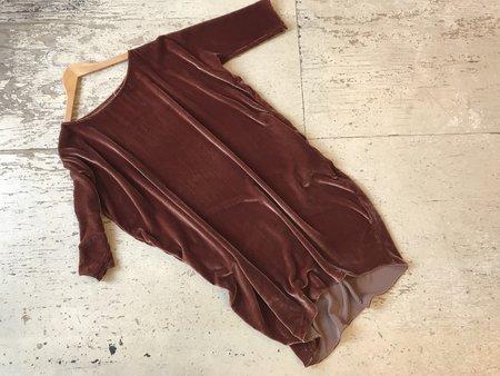 Rachel Craven Velvet Short Cocoon Dress - Rust
