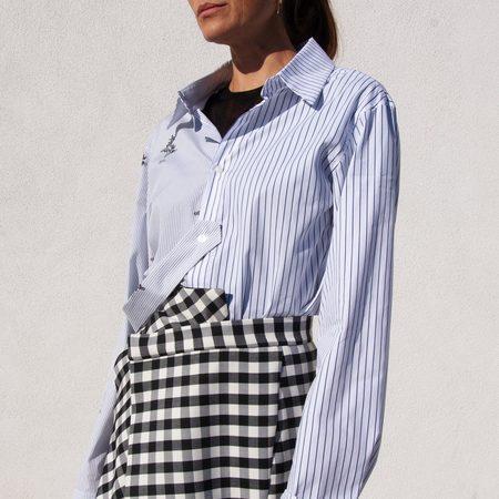 Delada Split Back Shirt With Strap