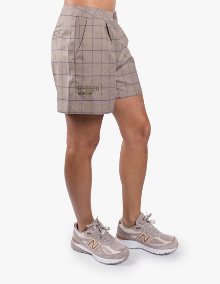 Han Kjøbenhavn Suit Shorts - Sand Windowpane