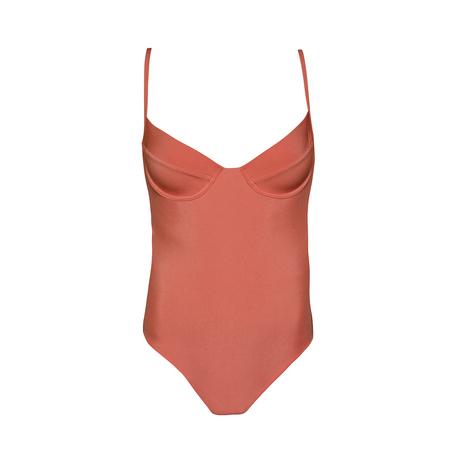 clō stories Colette burn orange one piece swimsuit - Terracotta