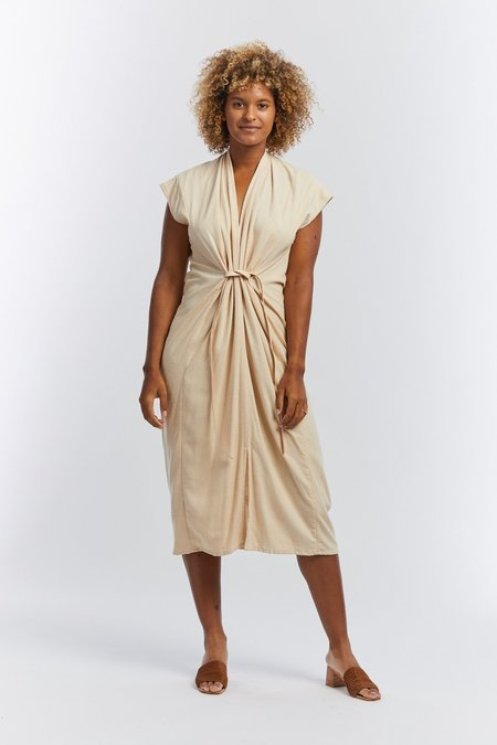 Miranda Bennett Silk Noil Knot Dress - Lucien