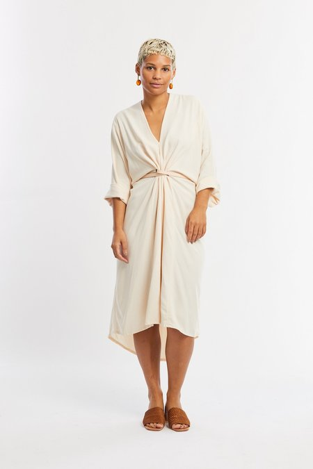 Miranda Bennett Rayon O'Keeffe Dress - Palo Santo