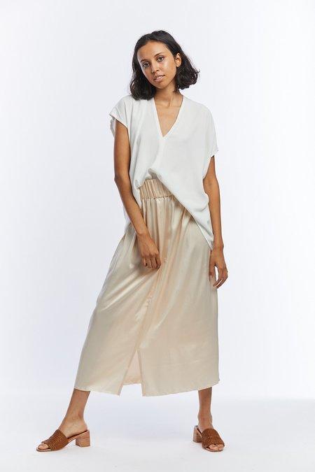 Miranda Bennett Silk Charmeuse Paper Bag Skirt - Lennon