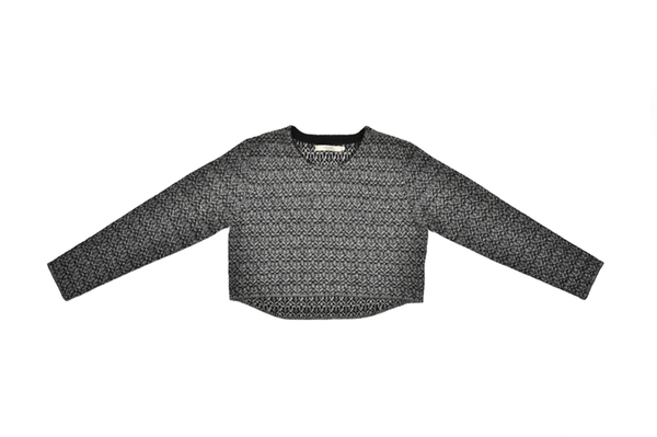 Unknown 7115 Textured Jacquard Sweater