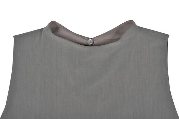 Kaarem Grey Petal Top