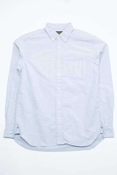 Beams Plus Oxford Button Down - Blue